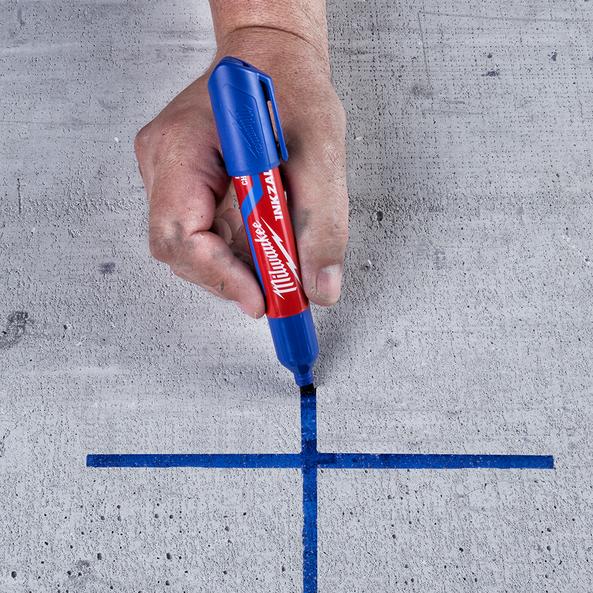 INKZALL™ Blue Large Chisel Tip Marker, , hi-res