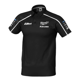2019 Milwaukee Racing Black Polo Men's