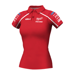 2019 Milwaukee Racing Red Polo Women's