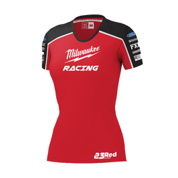 2019 Milwaukee Racing Black/ Red Tee Women's