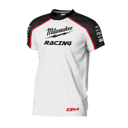 2019 Milwaukee Racing White Tee Men's