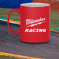Milwaukee Racing's range of Drink Bottles, Mugs and accessories